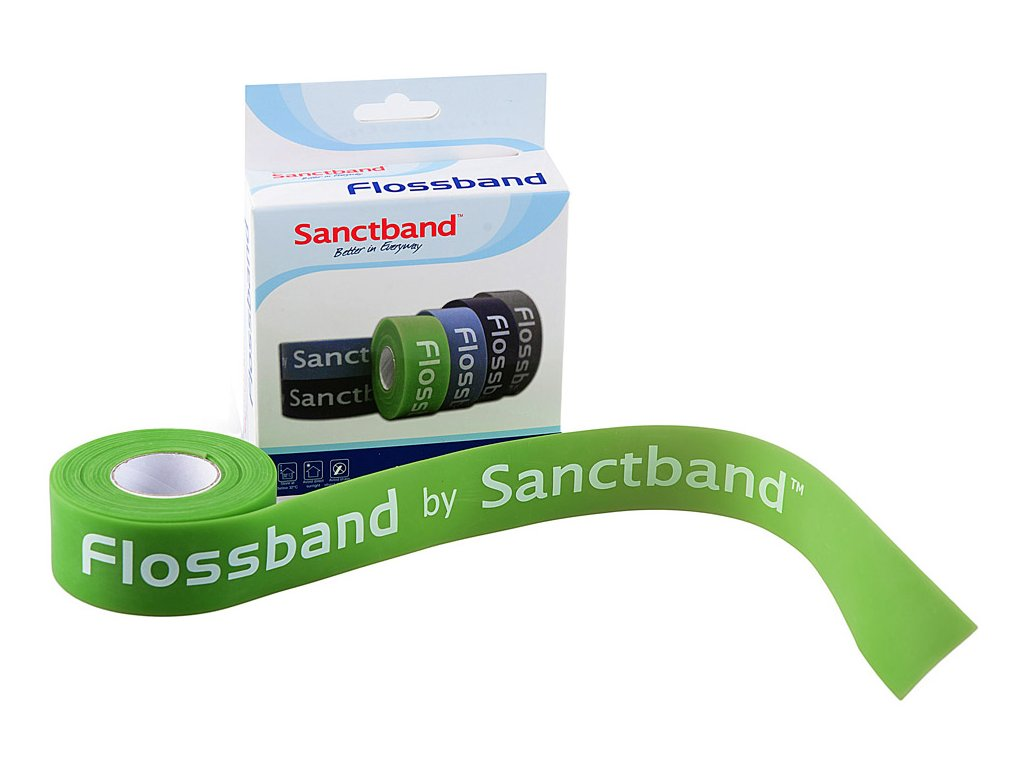 Flossband 25mm limetka