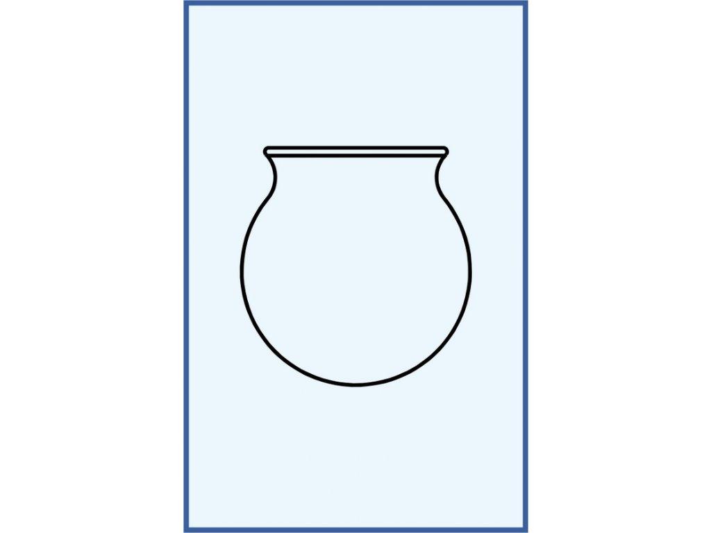Skleněná masážní baňka z českého skla
