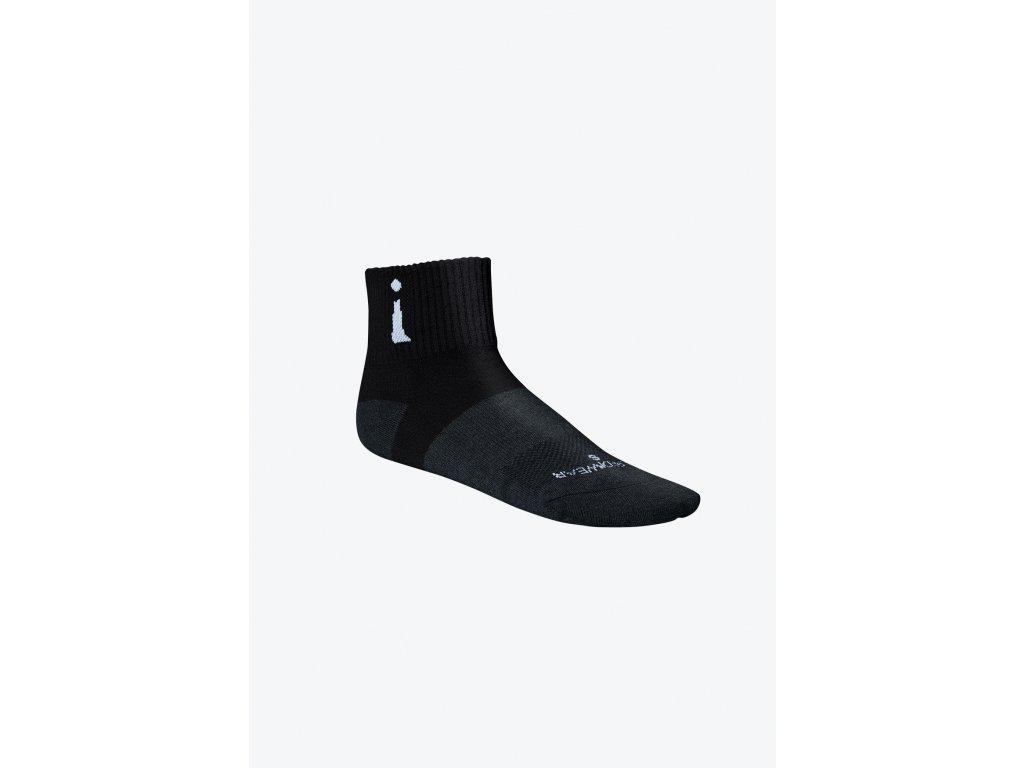 Active Sock Black Quarter left