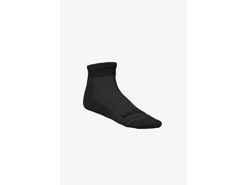 Circulation Socks Black Ankle Left