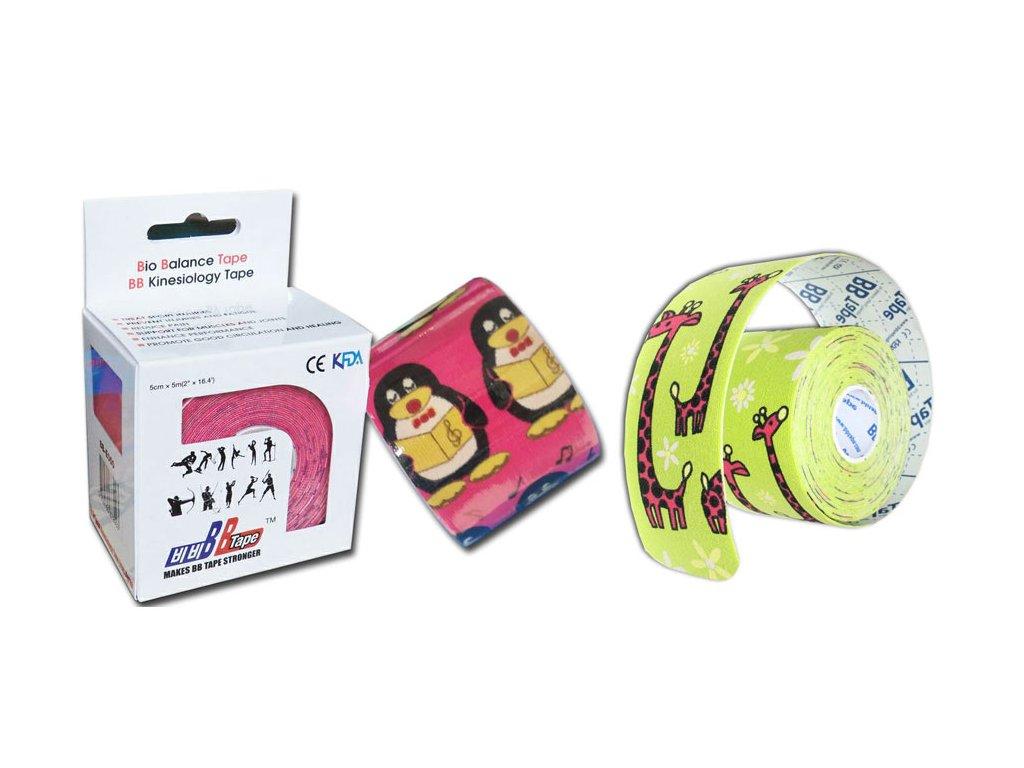 BB Tape pro citlivou pokožku s dětským designem
