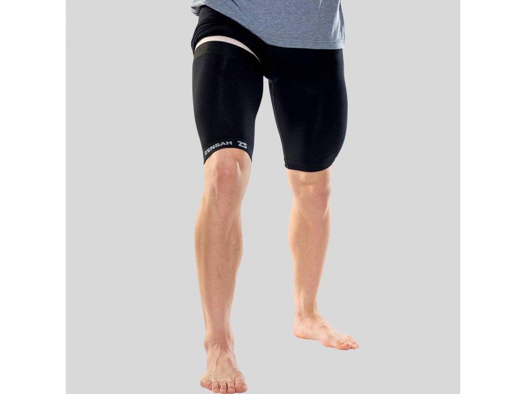 compression thigh sleeve black zensah