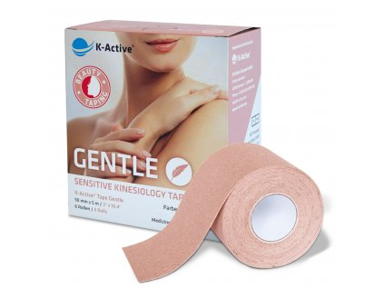 K-Active Tape Gentle 6box - kinezio tejp pro citlivou pokožku