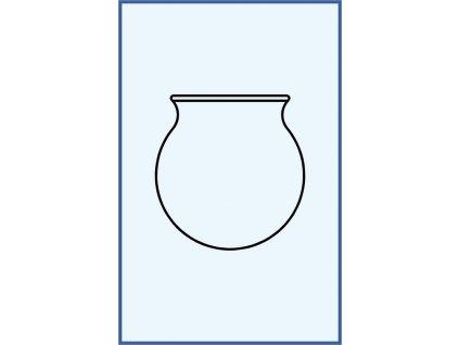 Masážní baňka z tenkého skla