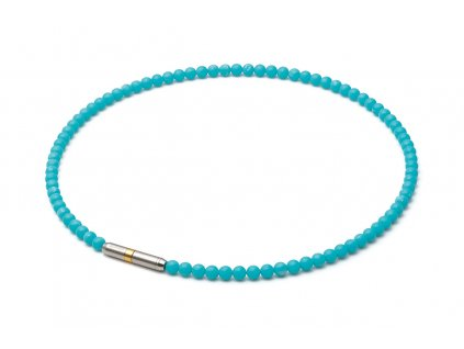 metax crystal touch halskette turquoise blue