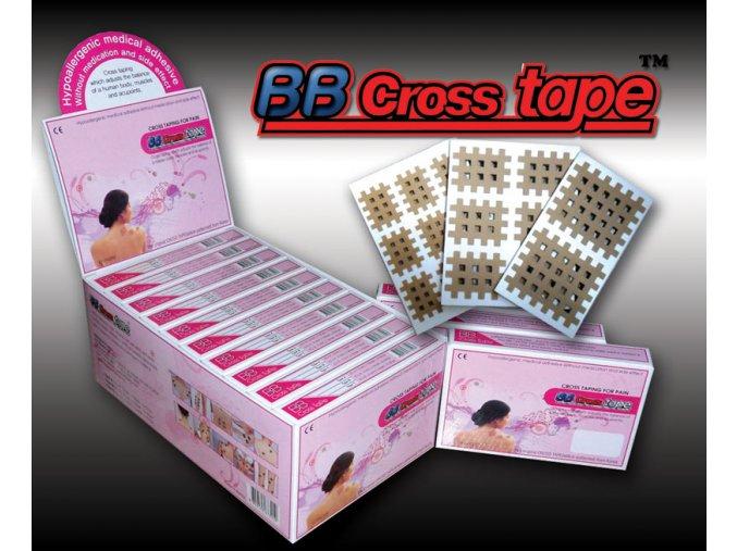 BB Cross Tape, křížové tejpy modré