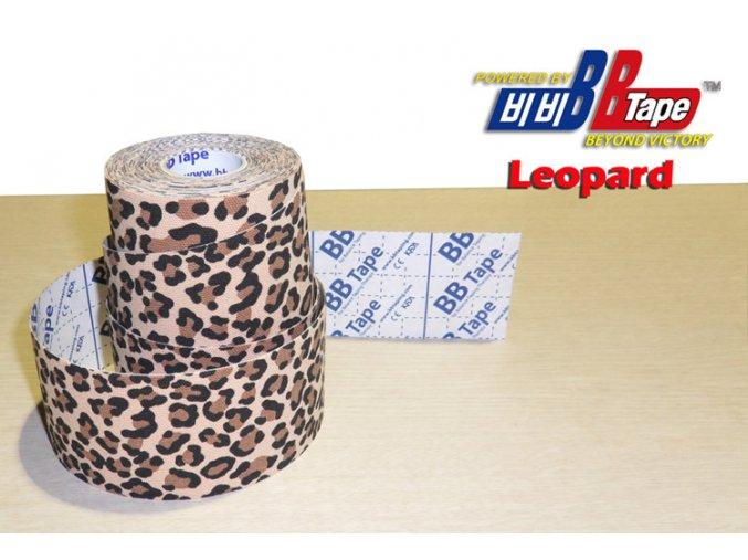 Kineziotape BB Tape s designem leoparda