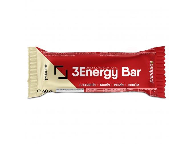 3 energy bar tycinka jahoda biela cok