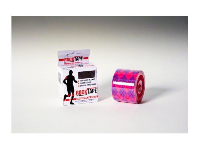 Kineziologický tejp RockTape Pink Argyle