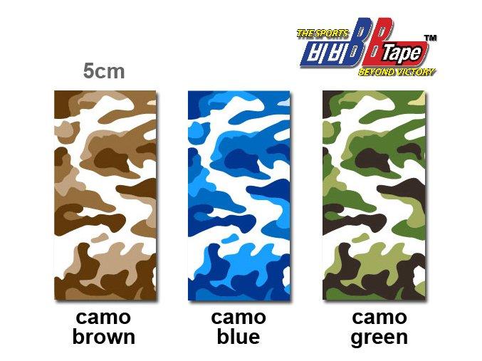 Kineziotape BB Tape s designem maskování