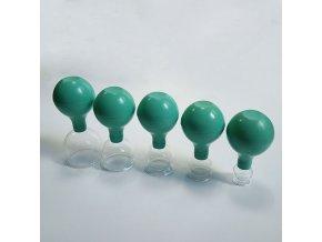 Sada 5 masážních baněk s balonkem