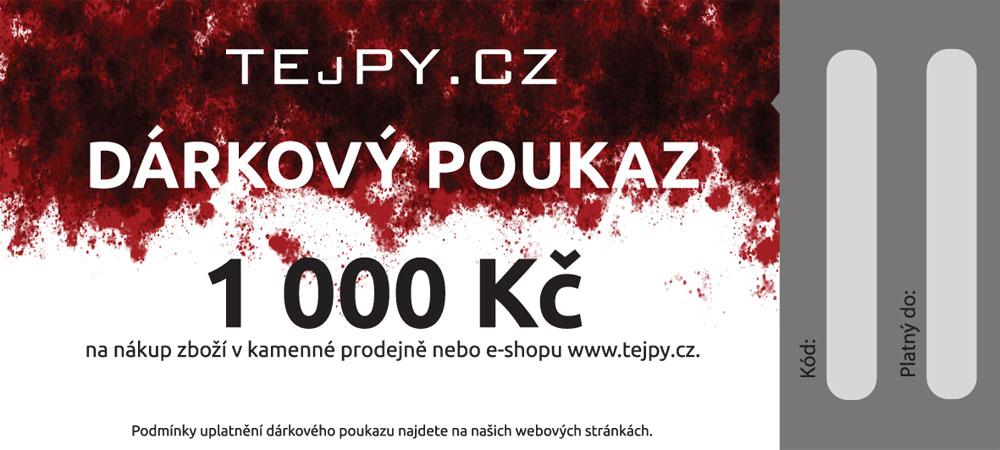 TEJPY.cz Dárkový poukaz emailem Varianta: 1000 Kč