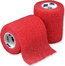 3M Coban elastické samofixační obinadlo Barva: červená, Výška: 7,5 cm