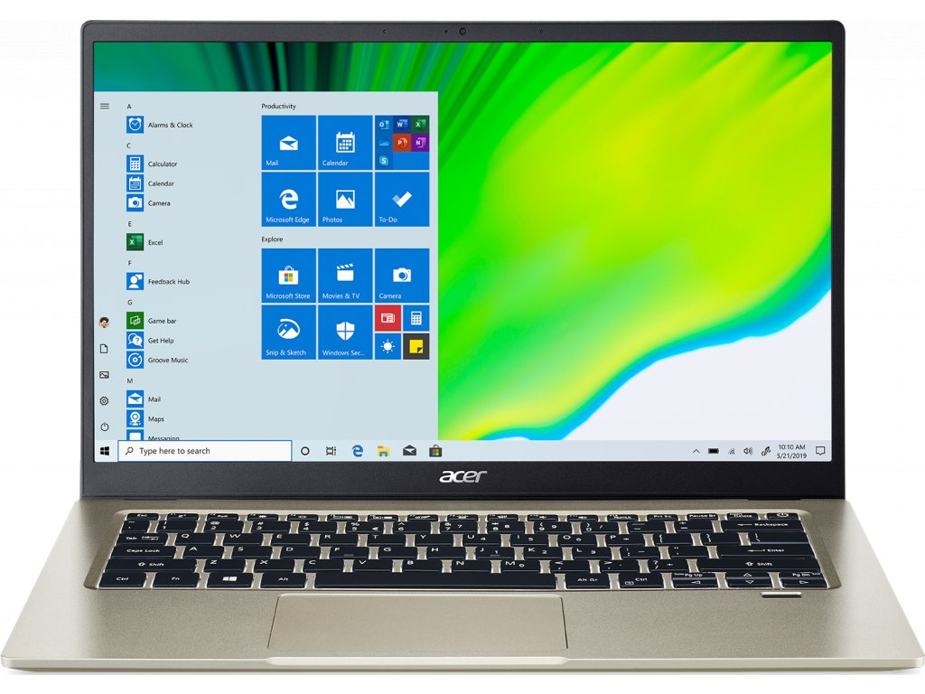 "Acer Swift 1 - 14""/N5030/4G/128SSD NVMe/IPS FHD/W10S zlatý + Microsoft 365"
