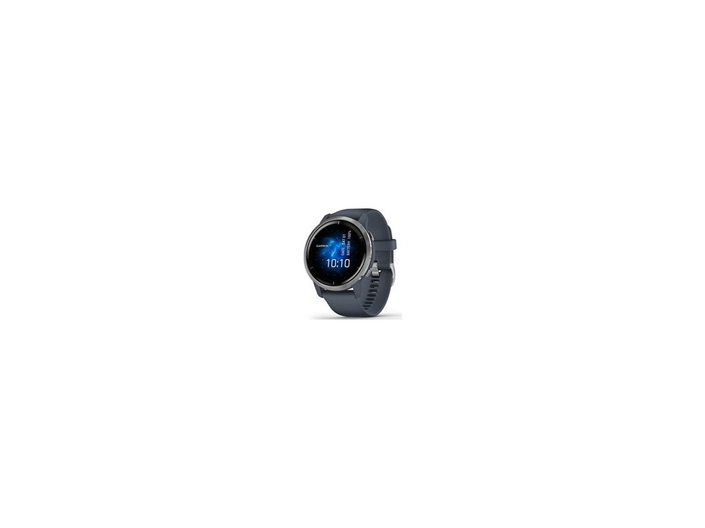 Garmin GPS sportovní hodinky Venu2 Silver/Granite Blue Band