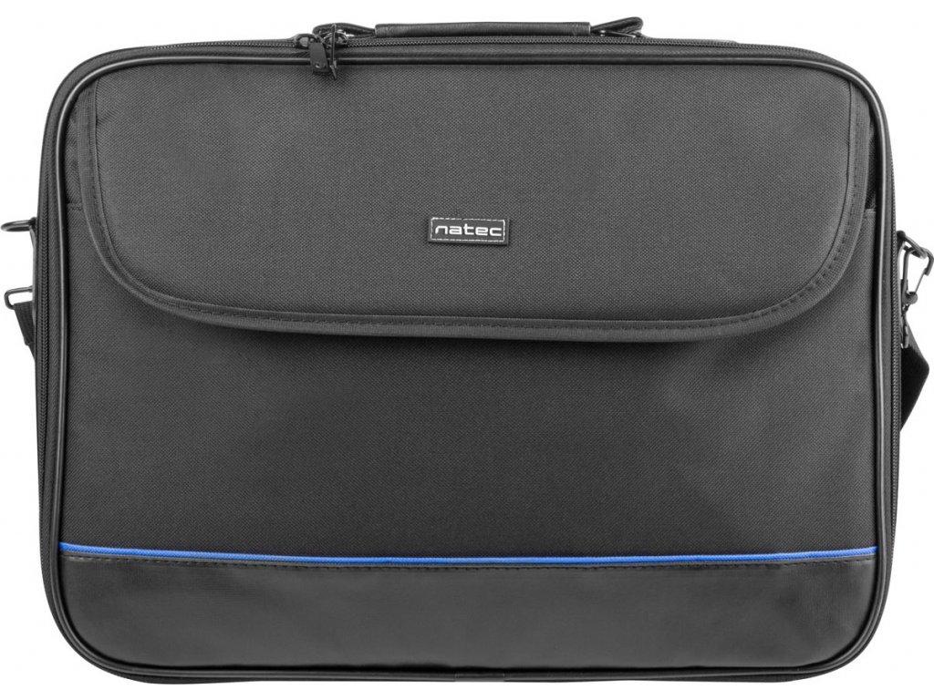 NATEC NTO-0335 Natec IMPALA taška na notebook 15.6, čierno-modrá (stiff shock absorbing frame