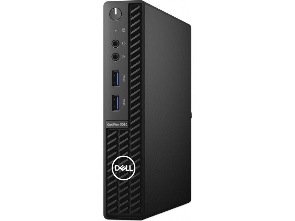 DELL PC OptiPlex 3080 MFF/Core i5-10500T/8GB/256GB SSD/Intel UHD 630/TPM/WLAN + BT/Kb/Mouse/W10Pro/3Y Basic Onsite