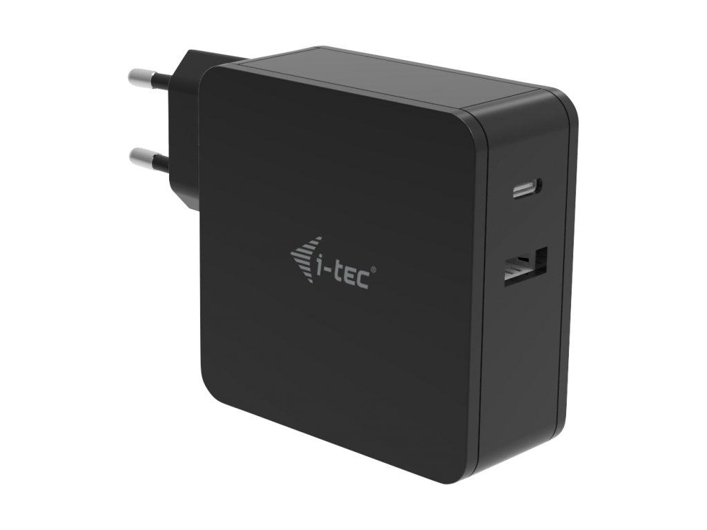 iTec USB-C CHARGER 60W + USB-A Port 12W