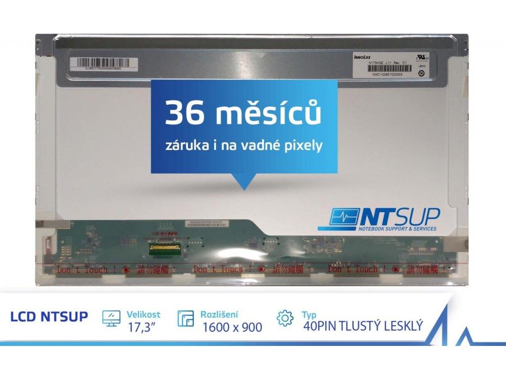 """LCD PANEL NTSUP 17,3"""" 1600x900 40PIN TLUSTÝ LESKLÝ"""