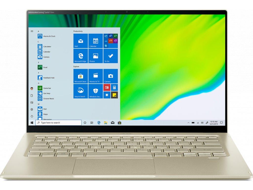 "ACER NTB Swift 5 - i7-1165G7@2.80GHz,16GB,512GBSSD,14"" touch FHD,BT5,cam,backl,USB3.2,USB Type-C,W10H,Zlatá"