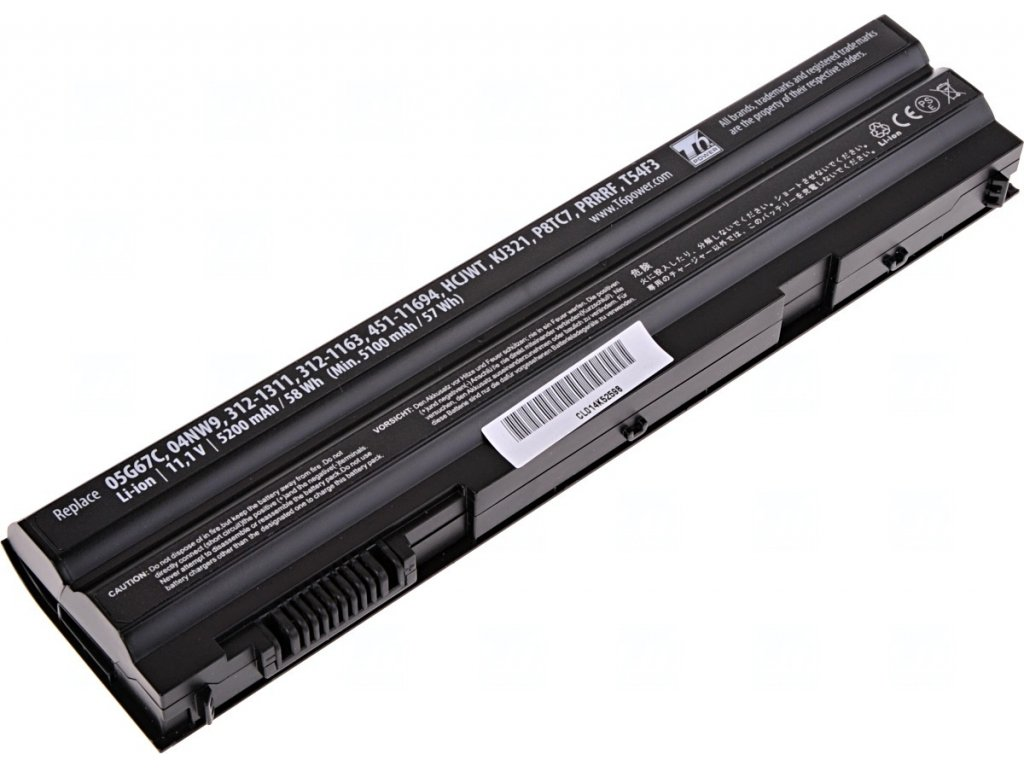 Baterie T6 power Dell Latitude E6420, E6430, E6520, E6530, E5420, E5430, E5520, 5200mAh, 58Wh, 6cell