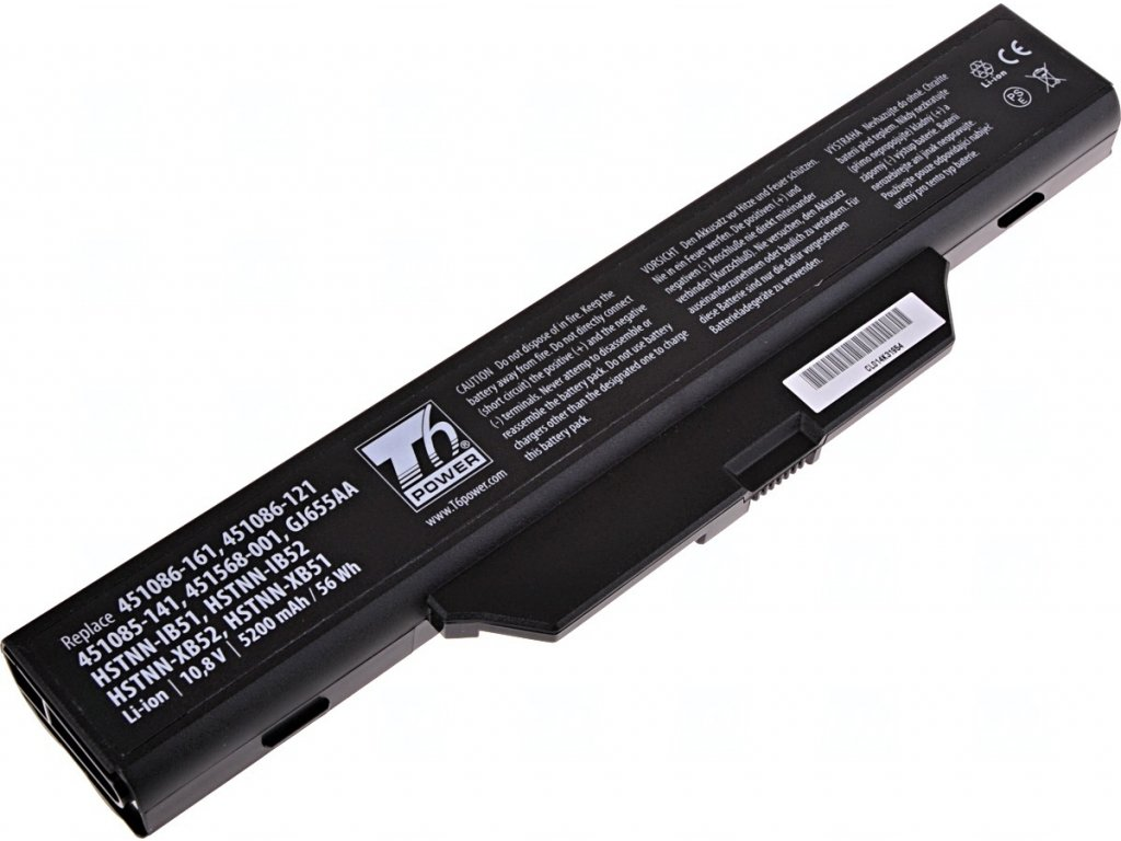 Baterie T6 power HP Compaq 6530s, 6535s, 6720s, 6730s, 6735s, 6820s, 6830s, 6cell, 5200mAh