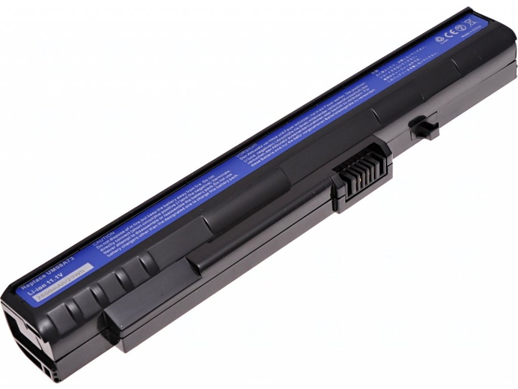 Baterie T6 power Acer Aspire One 8, 9, 10, 1, A110, A150, D150, D250, P531h, 2300mAh, 26Wh, 3cell