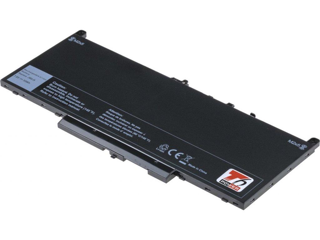 Baterie T6 power Dell Latitude E7270, E7470, 7200mAh, 55Wh, 4cell, Li-pol