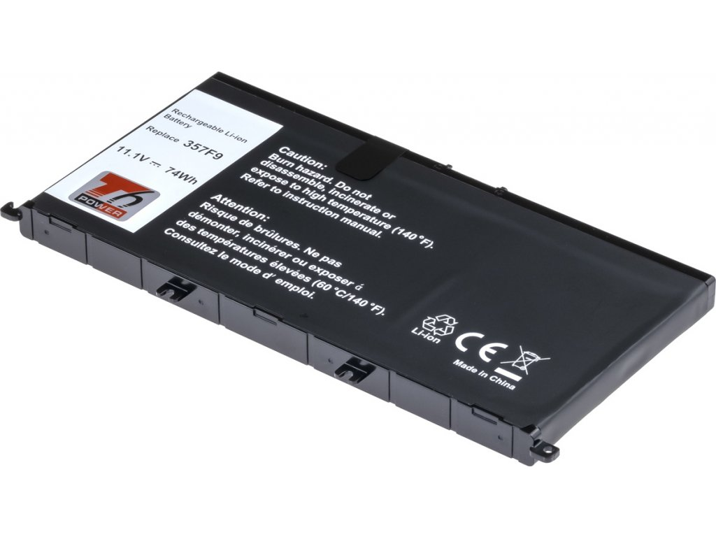 Baterie T6 power Dell Insprion 15 7559, 7566, 7567, 6660mAh, 74Wh, 6cell, Li-ion