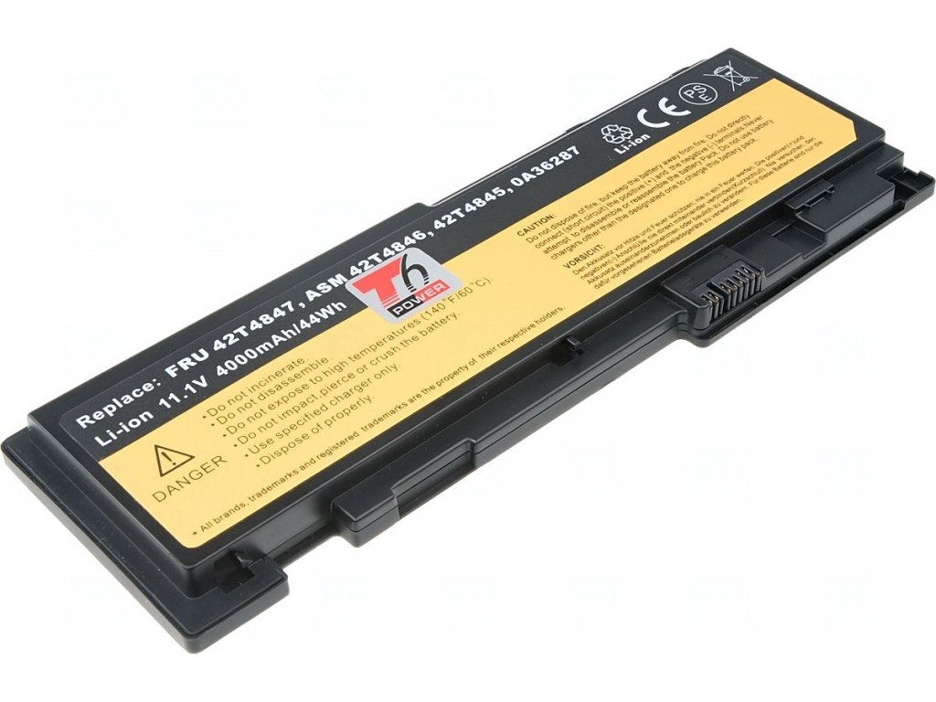Baterie T6 power Lenovo ThinkPad T420s, T430s, 4000mAh, 44Wh, 6cell