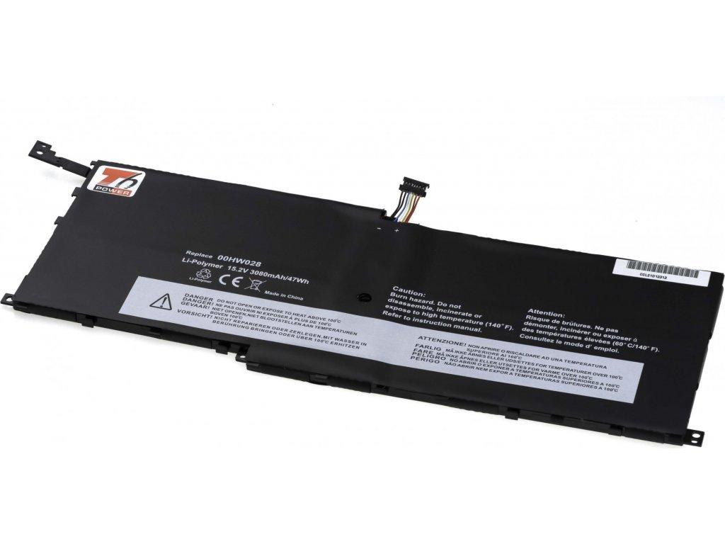 Baterie T6 power Lenovo ThinkPad X1 Carbon 4th Gen, X1 Yoga, 3080mAh, 47Wh, 4cell, Li-Pol