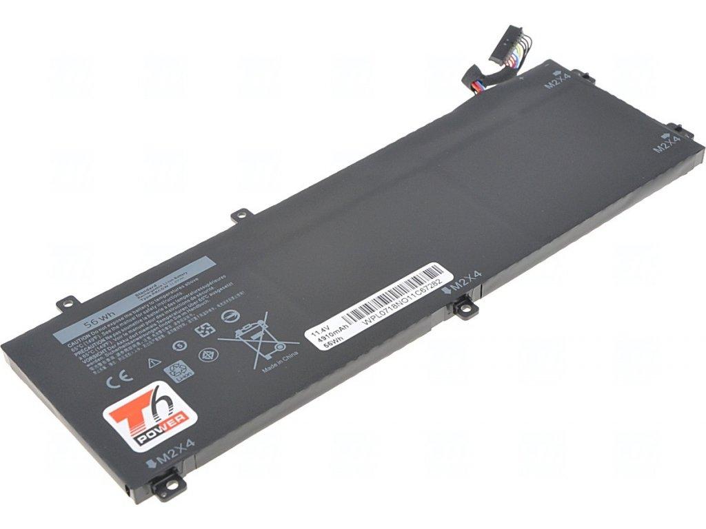 Baterie T6 power Dell Precision 15 5510, Precision M5510, XPS 15 9550, 4900mAh, 56Wh, 3cell, Li-pol