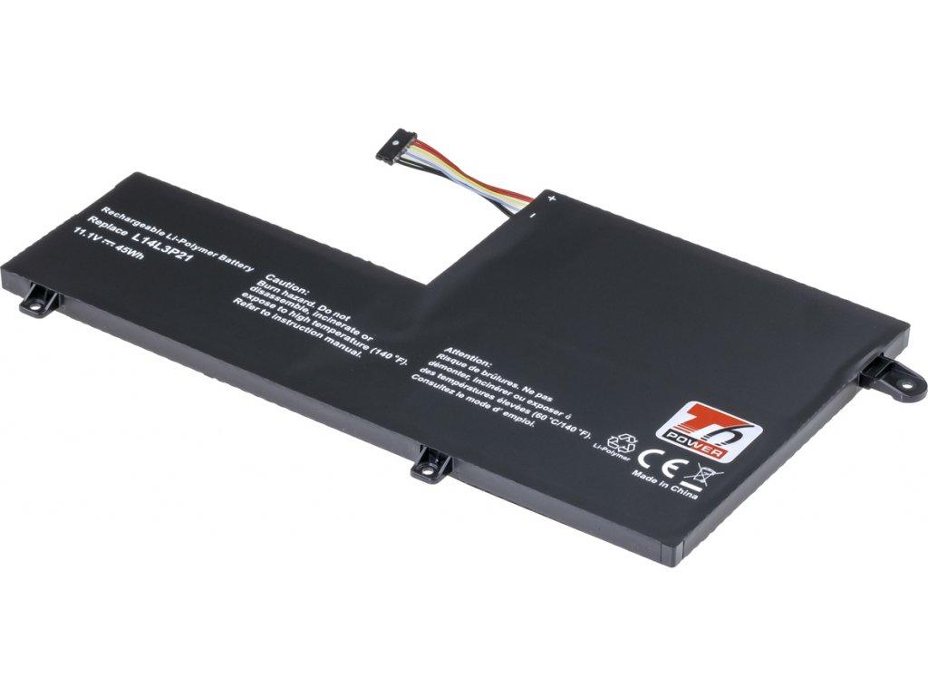 Baterie T6 power Lenovo IdeaPad 500S-14ISK, 510S-14ISK, 510S-14IKB, 4050mAh, 45Wh, 3cell, Li-pol