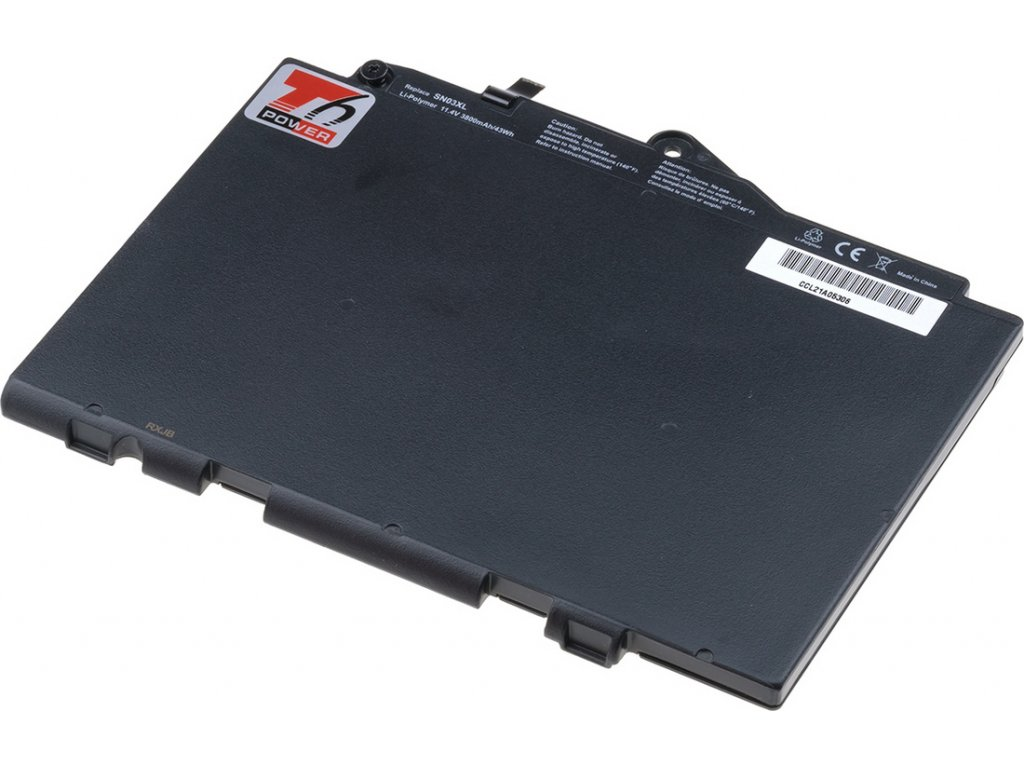 Baterie T6 power HP EliteBook 725 G3, 820 G3, 3800mAh, 43Wh, 3cell, Li-pol