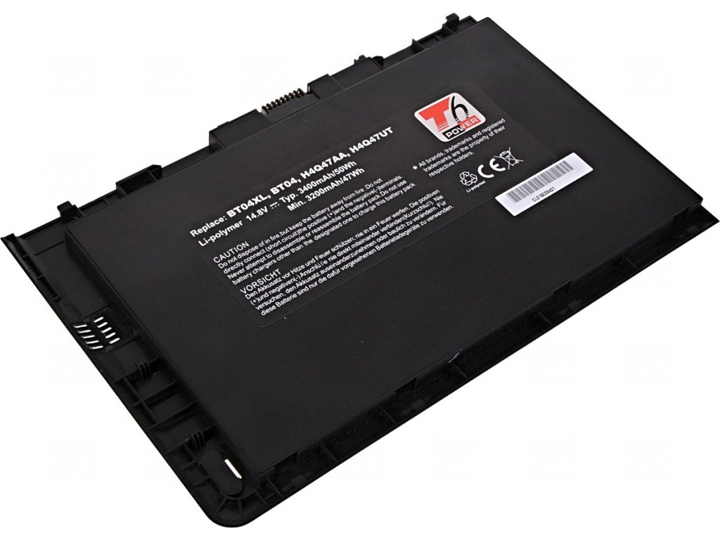 Baterie T6 power HP EliteBook 9470m serie, 3400mAh, 50Wh, 4cell, Li-pol