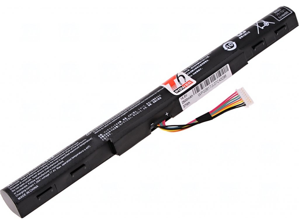 Baterie T6 power Acer Aspire E5-422, E5-522, E5-722, V3-572, TravelMate P248-M, 4cell, 2500mAh, 37Wh