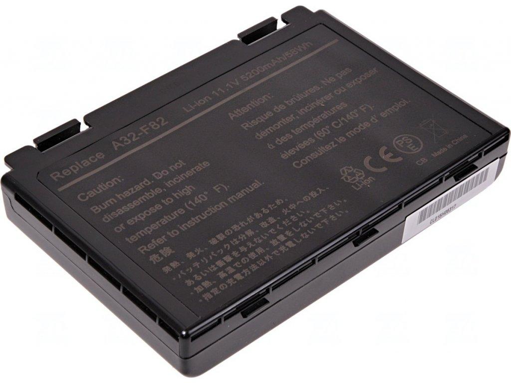 Baterie T6 power Asus K40, K41, K50, K51, K60, K61, K70, F52, F82, X5D, X70, X88, 6cell, 5200mAh