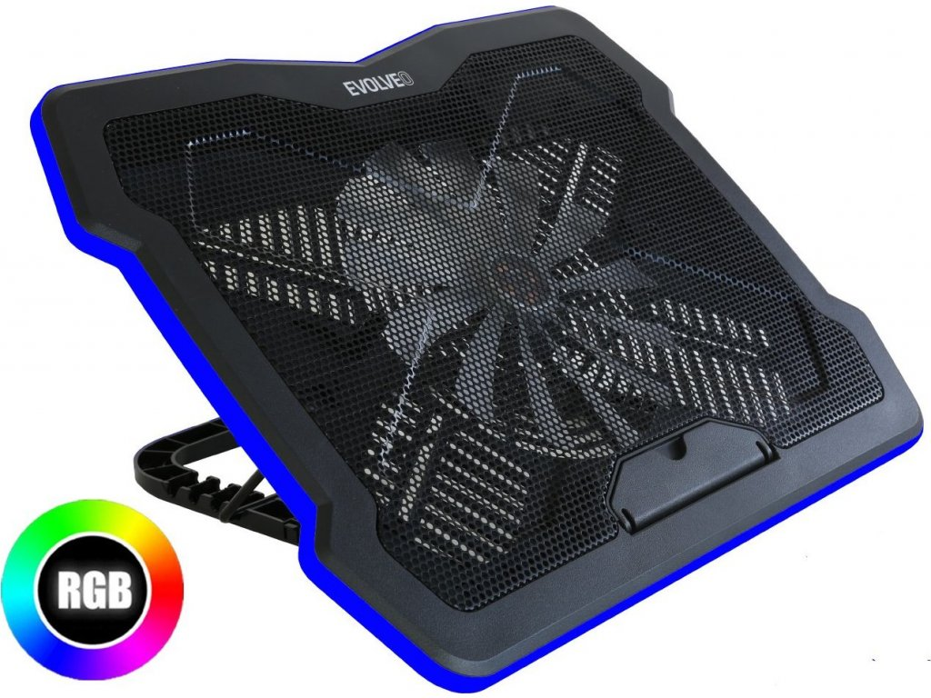 EVOLVEO Ania 6 RGB, chladicí podstavec pro notebook