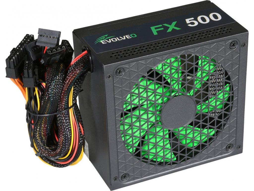 EVOLVEO FX 500 , zdroj 500W ATX, 14cm, tichý, 80+, bulk