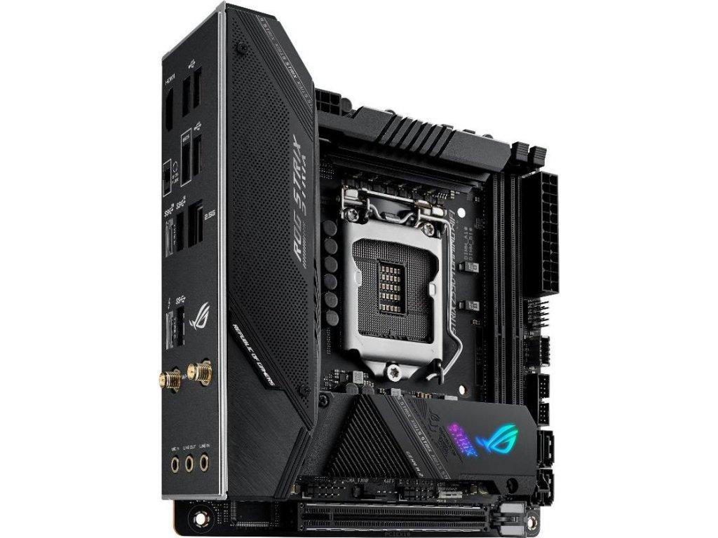 ASUS MB Sc LGA1200 ROG STRIX Z590-I GAMING WIFI, Intel Z590, 2xDDR4, 1xHDMI, WI-FI, mini-ITX