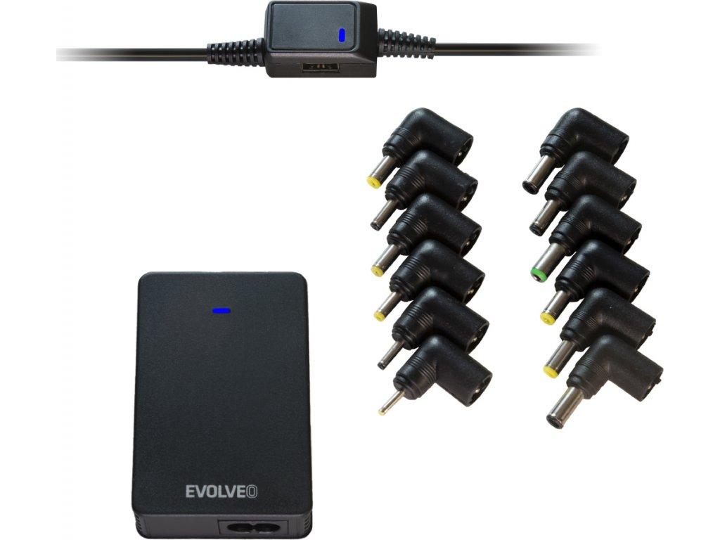 EVOLVEO ChargeeB90, 90W napájecí zdroj pro notebooky