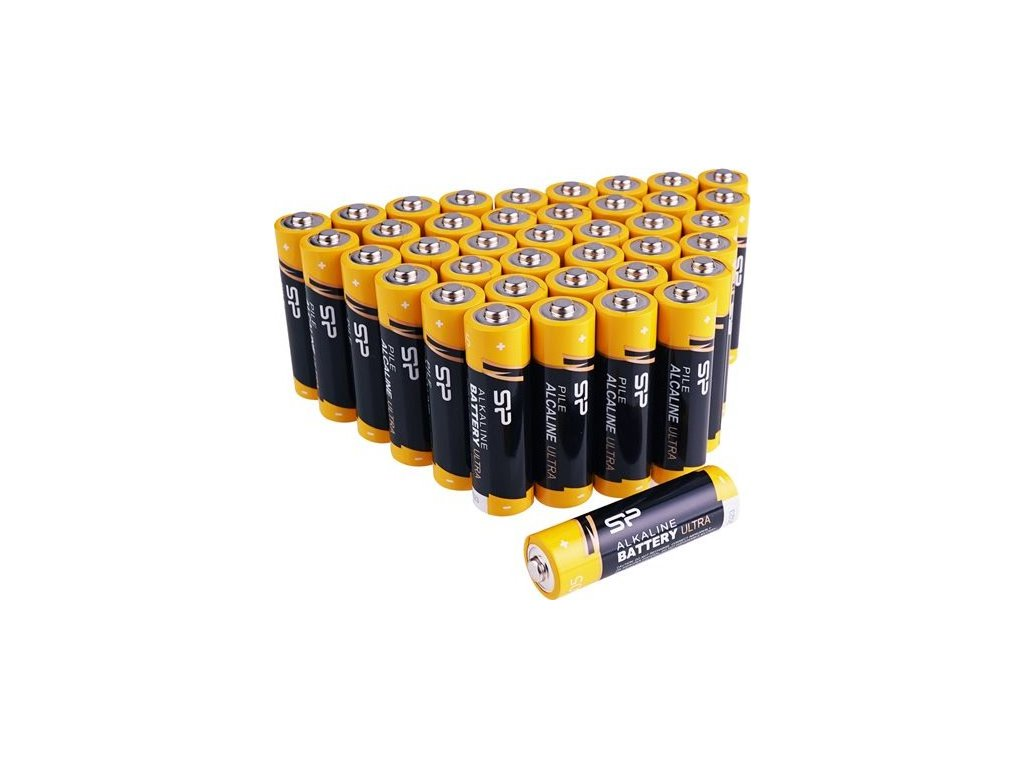SiliconPower alkalické batérie ultra AAA 40 ks retail