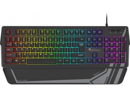 Genesis herní klávesnice RHOD 350 RGB US layout, 7-zónové podsvícení