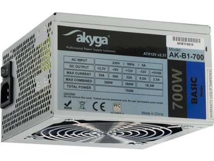 AKY AK-B1-700 Akyga Zdroj Basic ATX 700W AK-B1-700 Fan12cm P8 5xSATA PCI-E