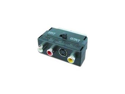 GEMBIRD CCV-4415 Gembird redukcia SCART - 3 CINCH (RCA) + 1 S-Video (prepínanie IN/OUT)
