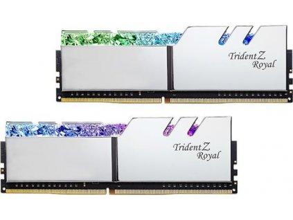 G.Skill F4-3200C14D-16GTRS 16GB DDR4 (Kit 2x8GB) Trident Z Royal DIMM 3200MHz CL14 strieborná