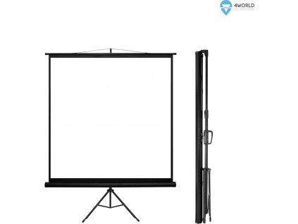 """4World Projekční plátno přenosné 200x200 112"""" 1:1"""