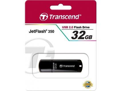 Transcend TS32GJF350 JetFlash 350 flashdisk 32GB USB 2.0, JetFlash Elite SW, čierny