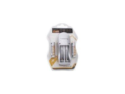 WHITENERGY 08350 Whitenergy nabíjačka pre 2 akumulátory AA/AAA + 2xAA/R6 2800mAh - blister