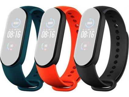 Mi Smart Band 5 Strap (Black,Orange,Cyan)